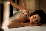 Woman getting a spa massage